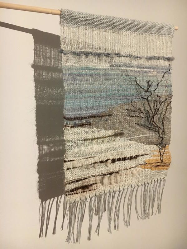 Frosted Fir - Adirondack Winter	Handwoven mixed fibres winter landscapes wall hanging	20x20cm	£45