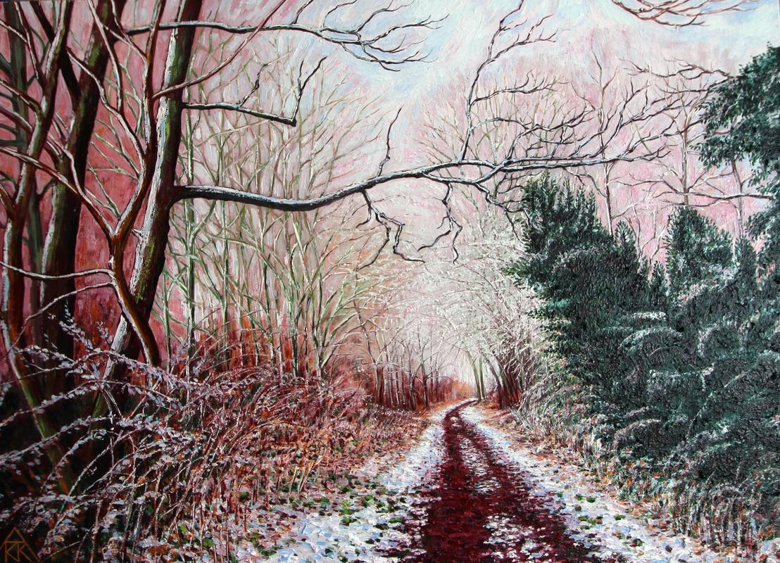 The Nickey Line (with snow)  Oil on canvas  80cmx60cm  £250