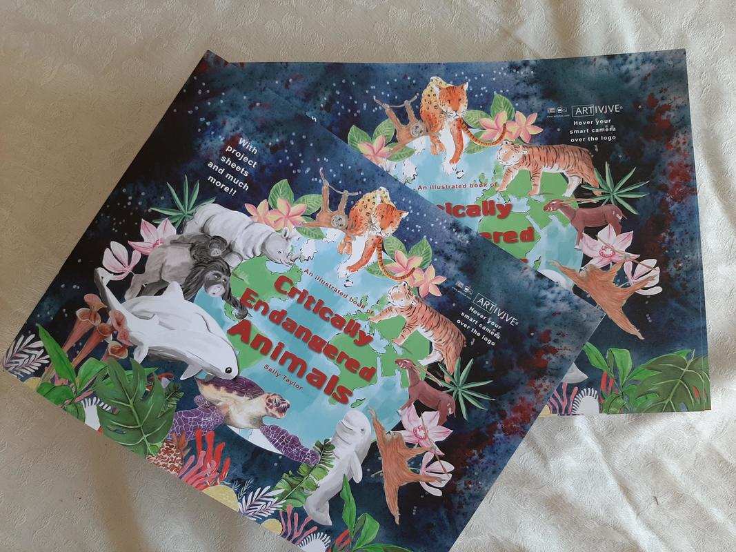 An illustrated book of Critically Endangered Animals