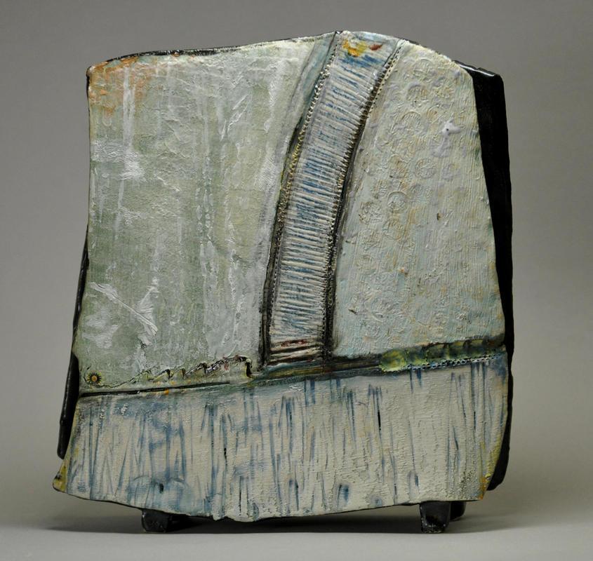 Slab Built Vase  Stoneware ceramics  H 18x W 4.5x L 19 cm  £165