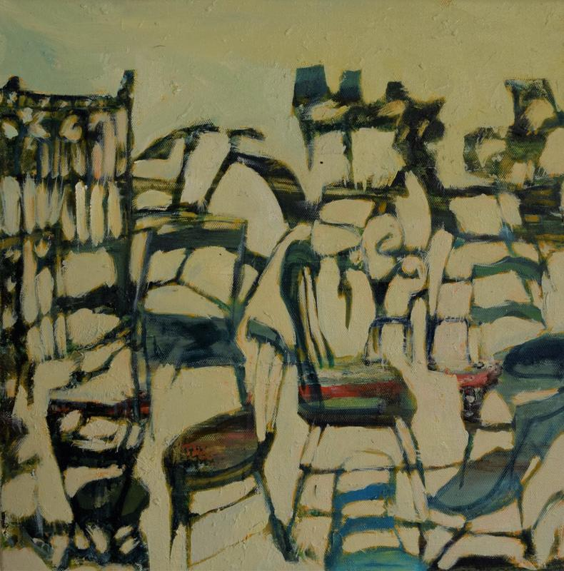 Chair Party, oil on canvas