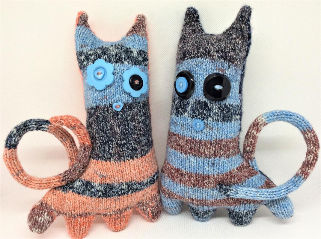 Hand knitted Curious Creatures - Clarice & Cliff