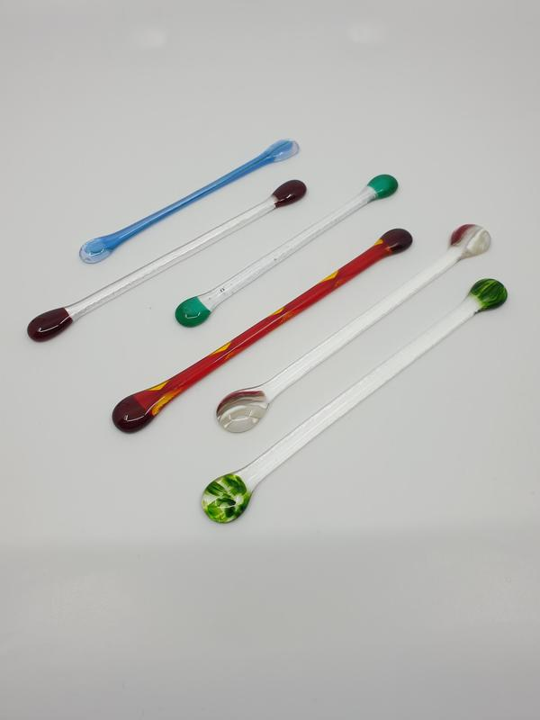 Glass cocktail Stirrers, various colours