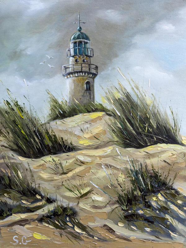 Dunes - Original hand signed oil landscape by Gavrailov Art, Hemel Hempstead, 2020