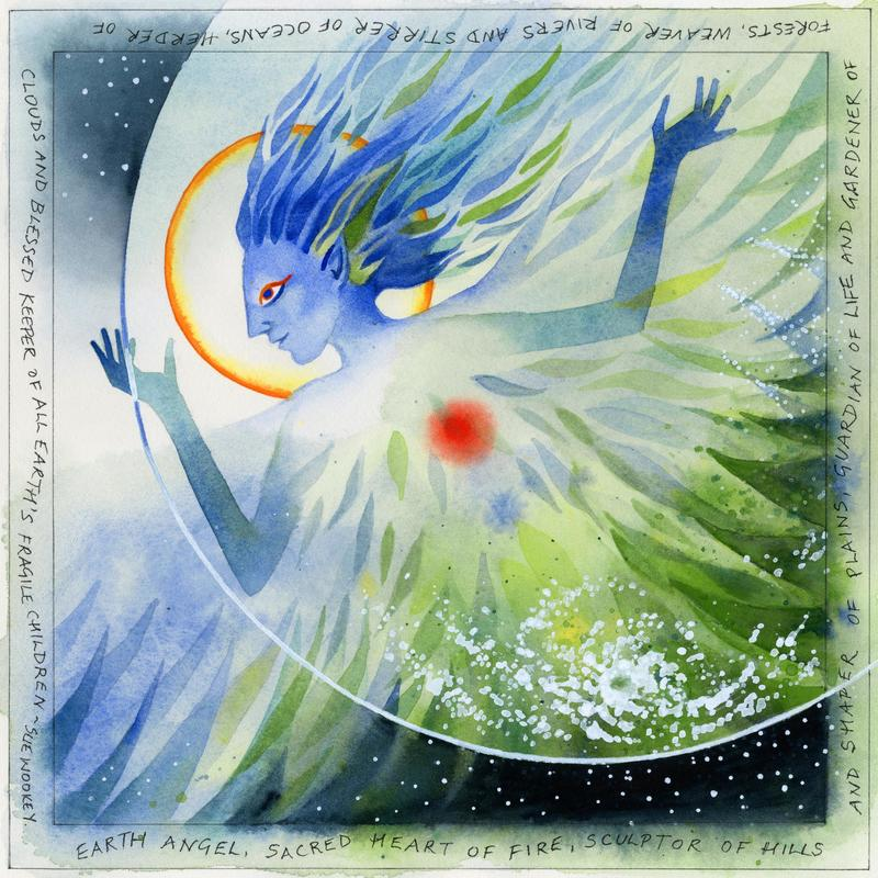 Earth Angel limited edition print of an original watercolour