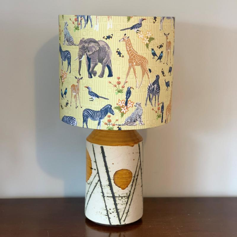 Gorgeous lampshade featuring African safari animals