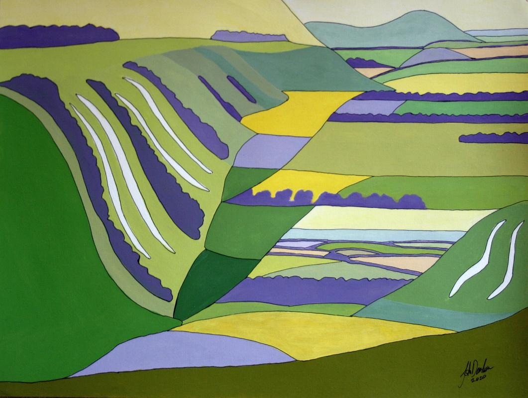 Limited edition giclee print from the Chiltern Hills series