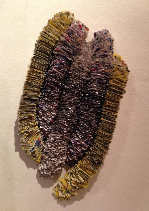 Mixed media assemblage from phone directories