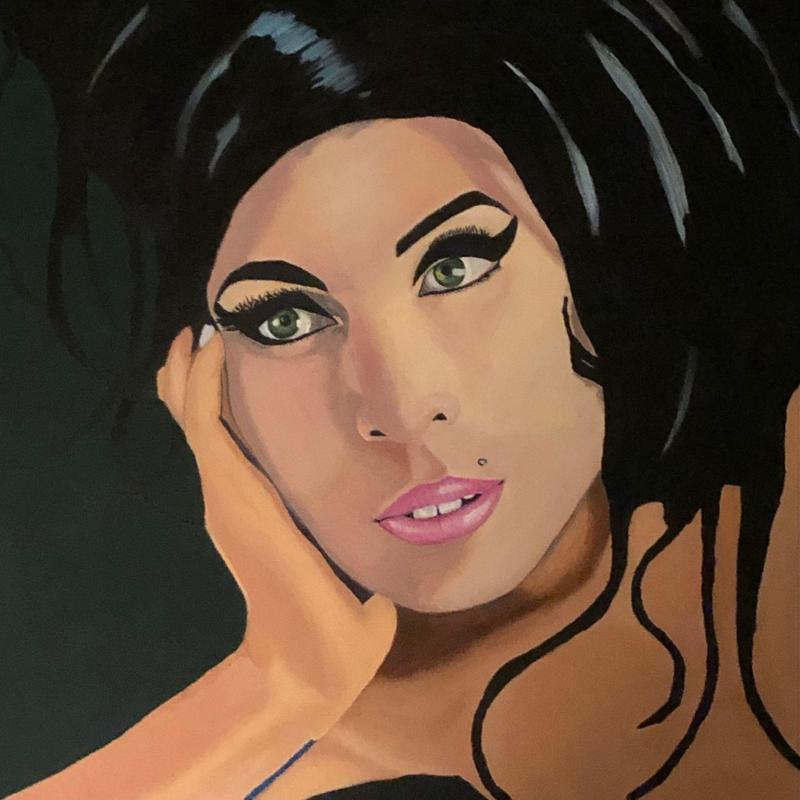 Amy	Acrylic on canvas mounted 50	50cm x 50cm	£100