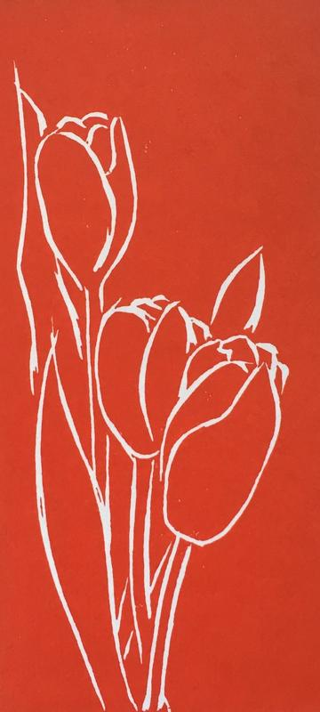 red_tulips_linocut