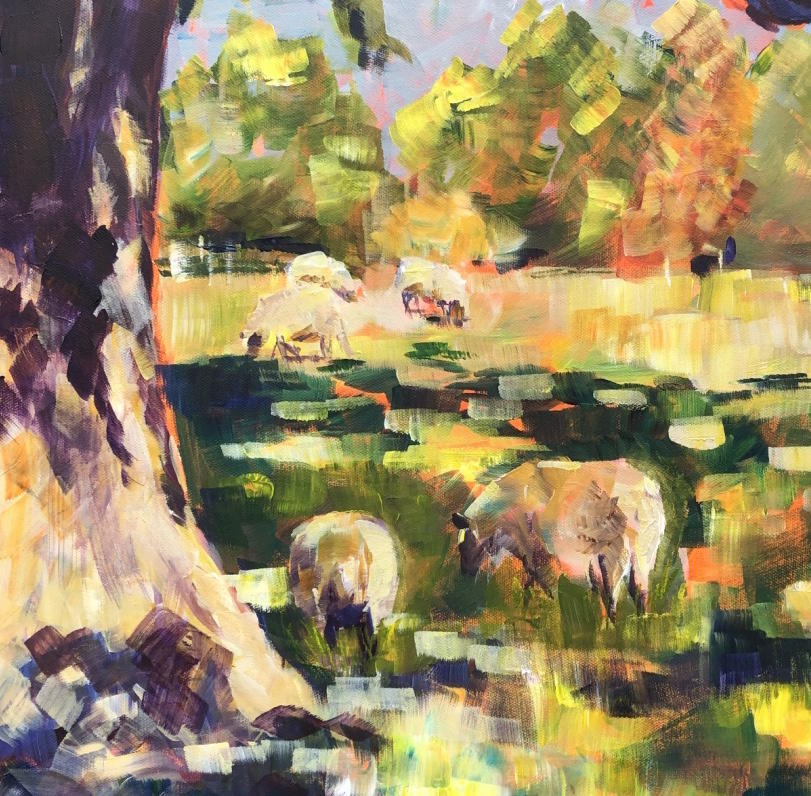 Inspired by nature, large brush strokes and lots of colour