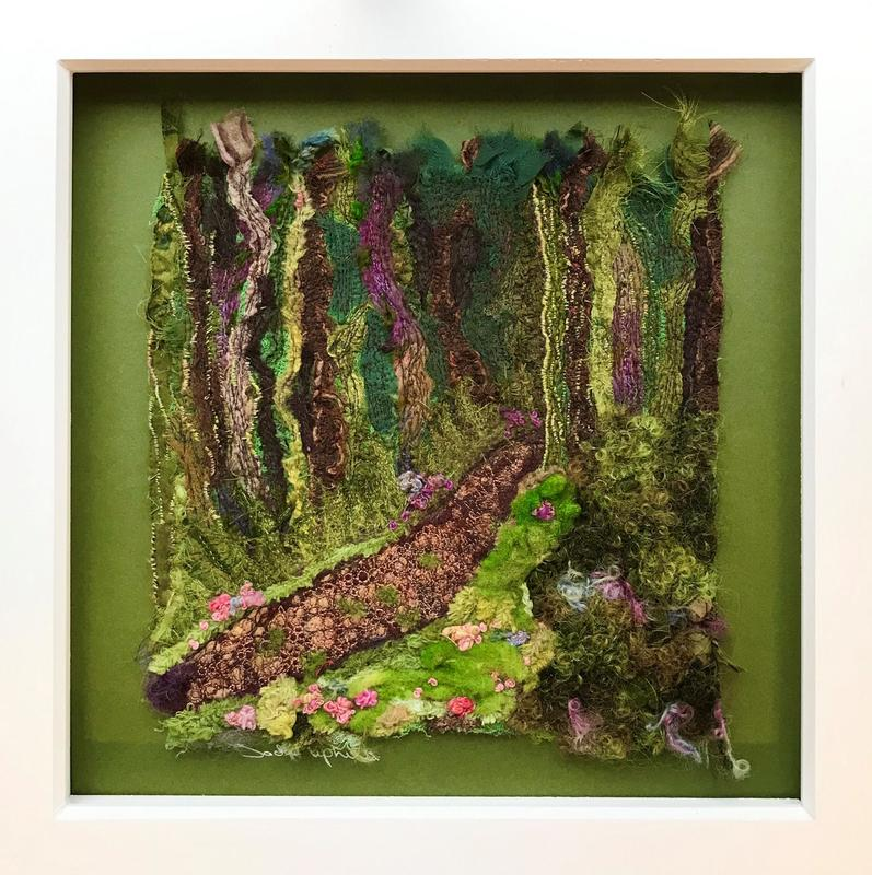 Textile – needle felted fabrics with machine and hand stitch