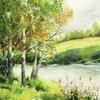 A Hint of Autumn.  Watercolour