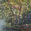 Stanborough lake..Acrylic on canvas