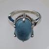 Silver and Aquamarine Ring