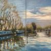 Teatime in Marsworth Basin. Water/Canals/Boats/Evening sun/Reflections/walking