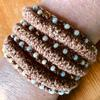 Cuff - knitted and beaded
