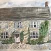 Oxfordshire cottage, ink & watercolour on paper A4. SOLD Commissions £120