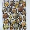 """Cats in Gangs"" acrylic on heavy paper"