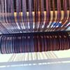 Silk & Cotton warp on the loom