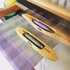 Silk weaving on a table top loom