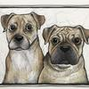 """Commission, pen and ink """"Saffy and Maggie"""""""