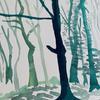 Winter trees I - Watercolour on Arches paper (23cm L x 31cm W) £45