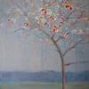Blossom on a Silver Sky by Anna Perlin, Mixed media