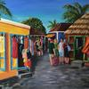 'Caribbean Market' - a narrative inspired on a cruise trip. Oils on canvas. 60 x 50 cm