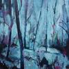 Woodland Spring  Acrylic on Wooden Panel.  12x12 inch  Framed  Little Gems
