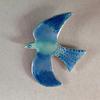Enamelled bird pendant ,pierced enamelled and painted