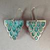 Champleve enamelled earrings