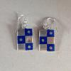 Photo etched enamelled earrings