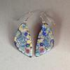 Limoges and 24 caret gold enamelled copper earrings