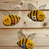 Original fused glass bees for indoor and outdoor decoration