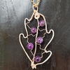 Amethyst in Rose Gold Copper Pendant