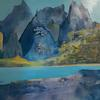 Mountains Patagonia  acrylic painting      Petra Geggie