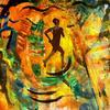 Dopamine: running themed painting