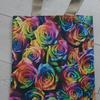 Tote bag using a photo of multicoloured roses