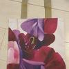 Tote bag using a gorgeous photo of sweet peas