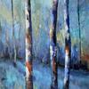 Forest of Dreams   Acrylic on Canvas  80 x 60 CM  Celebrating colour SOLD
