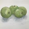 'Green apples' oil on canvas 50 x 75cm texture and flat paint