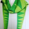 "Green Grow the Rushes scarf - bamboo & cotton yarn, £40 (11""x80"")"