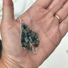 Wire Wrapped Leaf Shaped Pendant