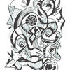 """Title: """"Spinning around"""" Medium: Permanent Marker & Graphic pens on paper. Original NFS Limited to 150 Giclée prints."""