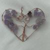 Wire Wrapped Amethyst Heart Pendant