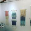 Woven wall art made with hand dyed cotton