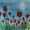 Tulips in acrylic