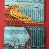 Two woven postcards