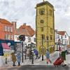 St Albans Clock Tower (for St Albans Artists' Calendar 2021), digital image, prints £20 + p&p